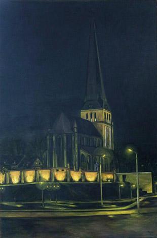 Nacht (night), Acryl 100 x 150 cm