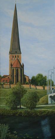 Von Weitem (From a distance), Acryl 40 x 100 cm