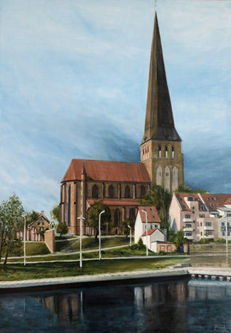 Vor dem Gewitter (before thunderstorm), Acryl 70 x 100 cm