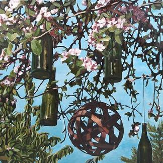 Liebesbaum im Frühling (Acryl)