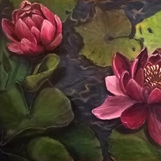 Variant Water Lillies I (Acrylic)